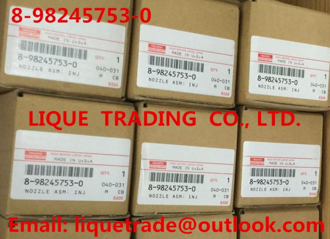 8982457530 / 8-98245753-0 Original and New Common rail injector 8982457530 / 8-98245753-0 for ISUZU Trooper 4JX1 3.0L