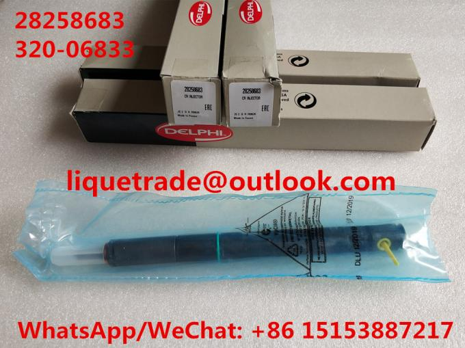 DELPHI Common Rail Injector 28258683 , 320/06833 , 320-06833 , 32006833 for JCB Excavator