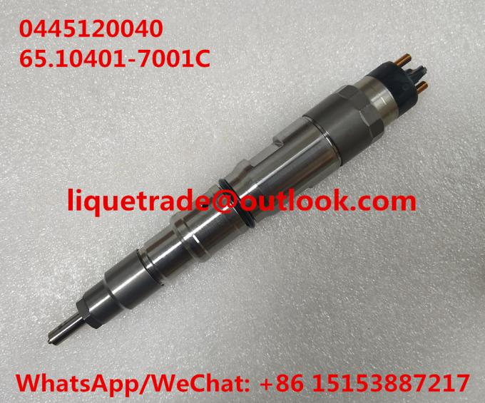 Fuel injector 0445120040 , 0445 120 040 for DOOSAN 65.10401-7001C , 65.10401-7001
