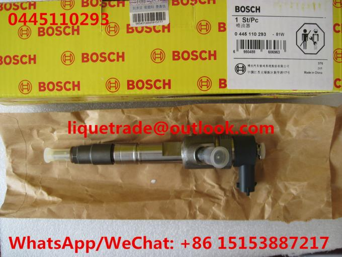 BOSCH Common Rail Injector 0445110293 / 0 445 110 293 / 1112100-E06 for Great Wall Hover