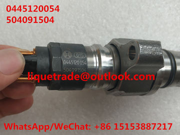 China BOSCH common rail injector 0445120054 , 0 445 120 054 , 0445 120 054 for IVECO 504091504, CASE NEW HOLLAND 2855491 supplier