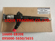 China DENSO common rail injector 16600-EB30E, 095000-5650,095000-5655 for NISSAN Pathfinder YD25 2.5 factory