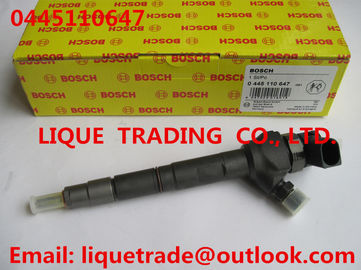 China BOSCH Genuine and New Common rail injector 0445110647 / 0 445 110 647 for VOLKSWAGEN 03L130277J, 03L130277Q factory