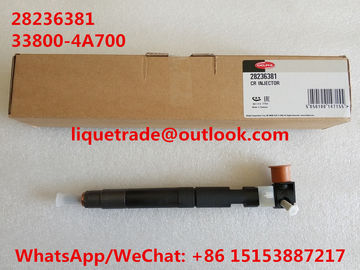 China DELPHI Original and New Common rail injector 28236381 for HYUNDAI Starex 33800-4A700 / 338004A700 factory