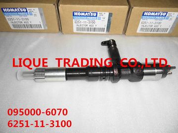 DENSO common rail injector 095000-6070 for KOMATSU PC400/450-8 engine 6251-11-3100 ,  6251113100